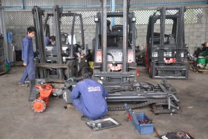 sửa chữa xe nâng tại hải phòng