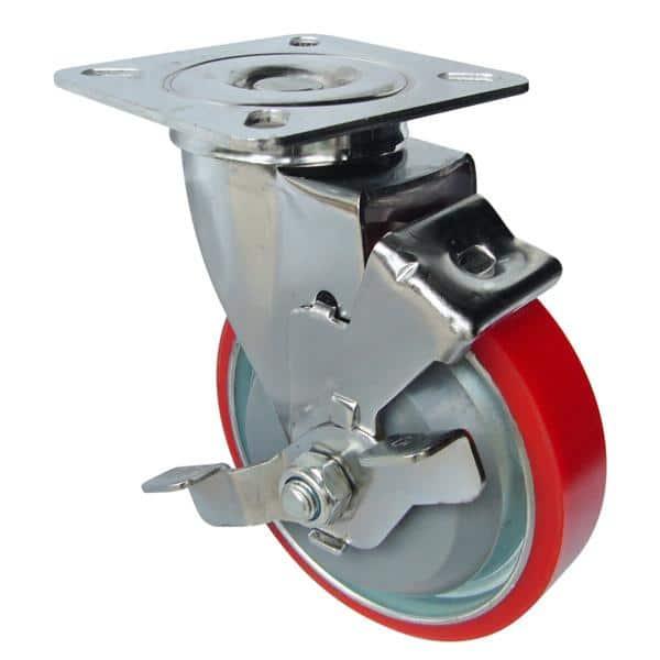 Bánh xe đẩy cao su PU, bánh xe nhựa PU