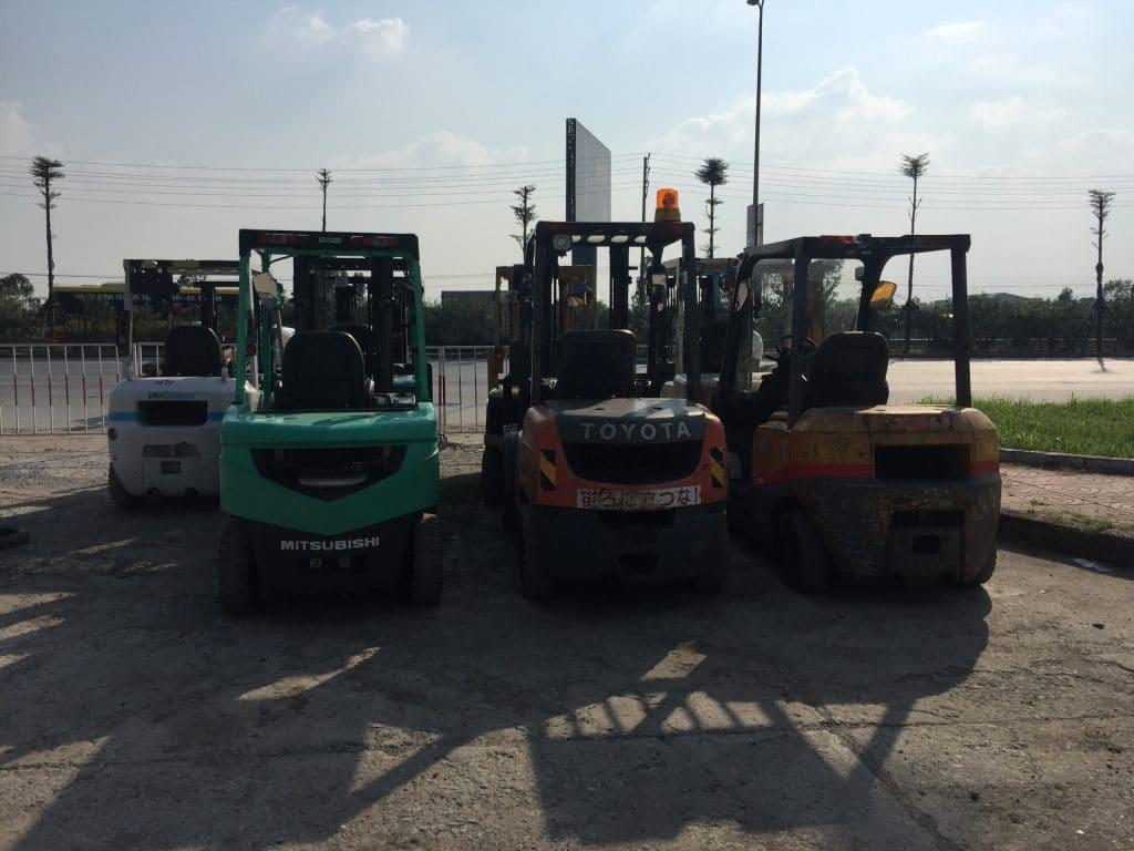 Cho thuê xe nâng tại KCN Vân Du, Thạch Thành, Thanh Hóa